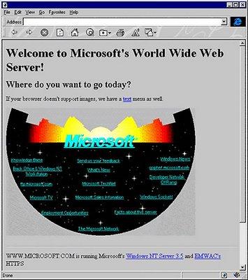 Microsoft Primer SitioWeb